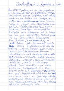 Bericht von Sophia, Teil1